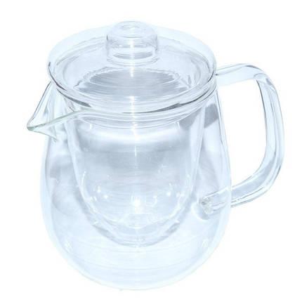 Стеклянный заварочный чайник Наиф стеклянные сито и крышка, 600 мл, фото 2