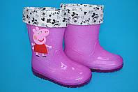 Яркие резиновые сапоги для девочек Шалунишка (размер 26-30)