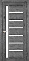 Дверь VALENTINO  VL-01. Со стеклом сатин (дуб марсала,дуб грей,дуб беленый,орех,венге). KORFAD (КОРФАД)