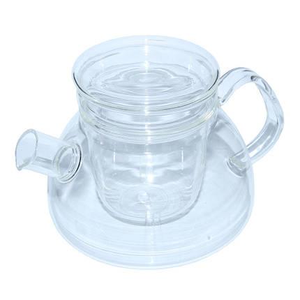 Заварочный чайник Суоми со стеклянным ситом и крышкой, 1100 мл, фото 2