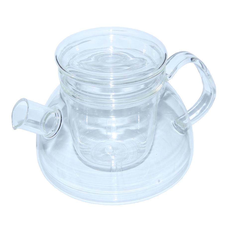 Заварочный чайник Суоми со стеклянным ситом и крышкой, 1100 мл