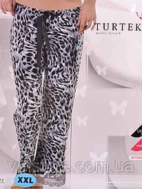 Штаны для дома 6008 (леопард серый)