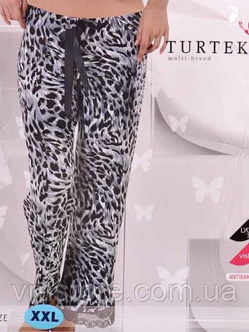 Штаны для дома 6008 (леопард серый), фото 2