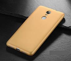 Чехол MAKAVO для Xiaomi Redmi Note 4X / Note 4 Global Version Бампер Матовый ультратонкий золотой