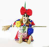 Текстильная кукла  Vikamade Баба-Яга малая 25-30 см