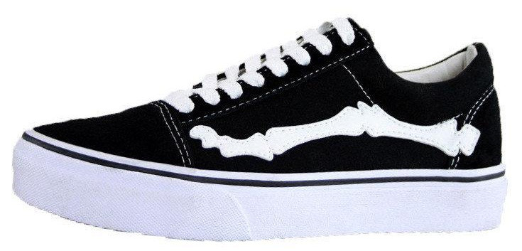 34ec9bd446 Женские кеды Vans X Blends Vault Old Skool Zip LX Bones Jazz Stripe Black