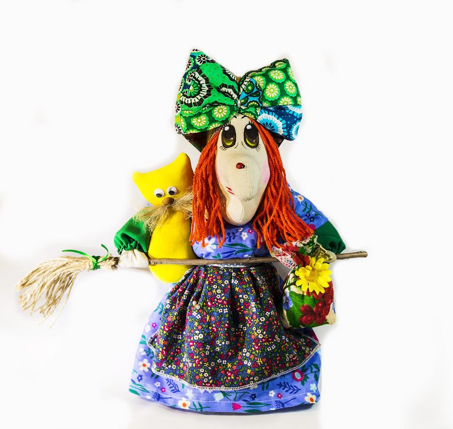Текстильная Кукла  Vikamade Баба-Яга средняя 30-35 см