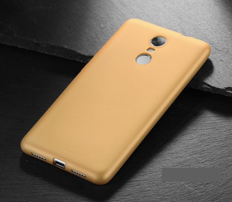 Чехол MAKAVO для Xiaomi Redmi Note 4 Бампер Матовый ультратонкий золотой