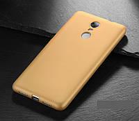 Чехол MAKAVO для Xiaomi Redmi Note 4 Бампер Матовый ультратонкий золотой, фото 1