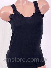 Майка с кружевом, размер XL