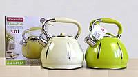 Чайник 3 литра со свистком Kamille 0691A