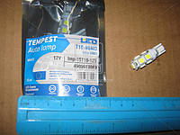 Лампа LED б/ц габарит и панель приборов T10 9SMD W5W 12V WHITE TEMPEST