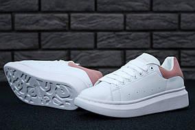 Кроссовки женские Alexander McQueen Oversized Sneakers код товара KD-11495. Белые