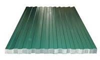 Лист профилированный 0,95м*1,5м Т-10 зеленый(6005),толщ.0,26мм