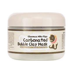 Глиняно-пенная маска для лица для глубокого очищения пор Elizavecca Milky Piggy Carbona Ted Bubble Clay Mask