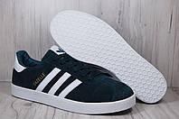 Замшевые зеленые кеды/криперы в стиле Adidas gazelle(размеры:42,45)