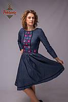 Сукня з вишивкою Джамала джинс