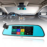 """Автомобильный Регистратор зеркало A6 Black 7"""" сенсор, 2 камеры, GPS+ WiFi, 8Gb, Android, 3G + ПОЛНЫЙ ОБЗОР, фото 1"""