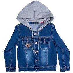 Джинсовый детский пиджак«Yuke» для мальчика (92-122 р)