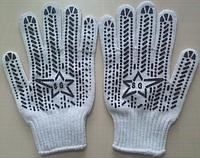 Перчатки Звезда Люкс хлопчатобумажные с точкою белые