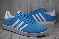 Adidas gazelle(адидас газель) женские голубые кроссовки, фото 1