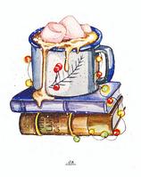"""Открытка для посткроссинга """"Кофе с зефиром"""", фото 1"""