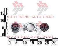 Ремкомплект крепления глушителя ВАЗ 1118 (хомут с кольцом и подушки) (RG1118-1200800*)
