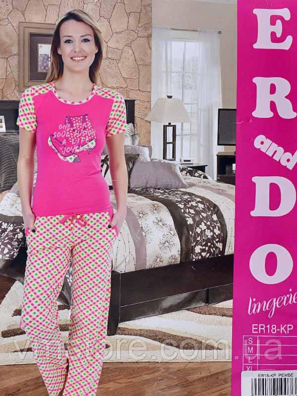 Комплект Футболка+штаны ER18-KP (ростовка - 4 шт.) (розовый)