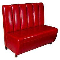 AMF Диван Гранд на ножках (100Н) орех темный 1200*670*1100Н Лаки красный