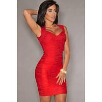 Бандажные красное платья