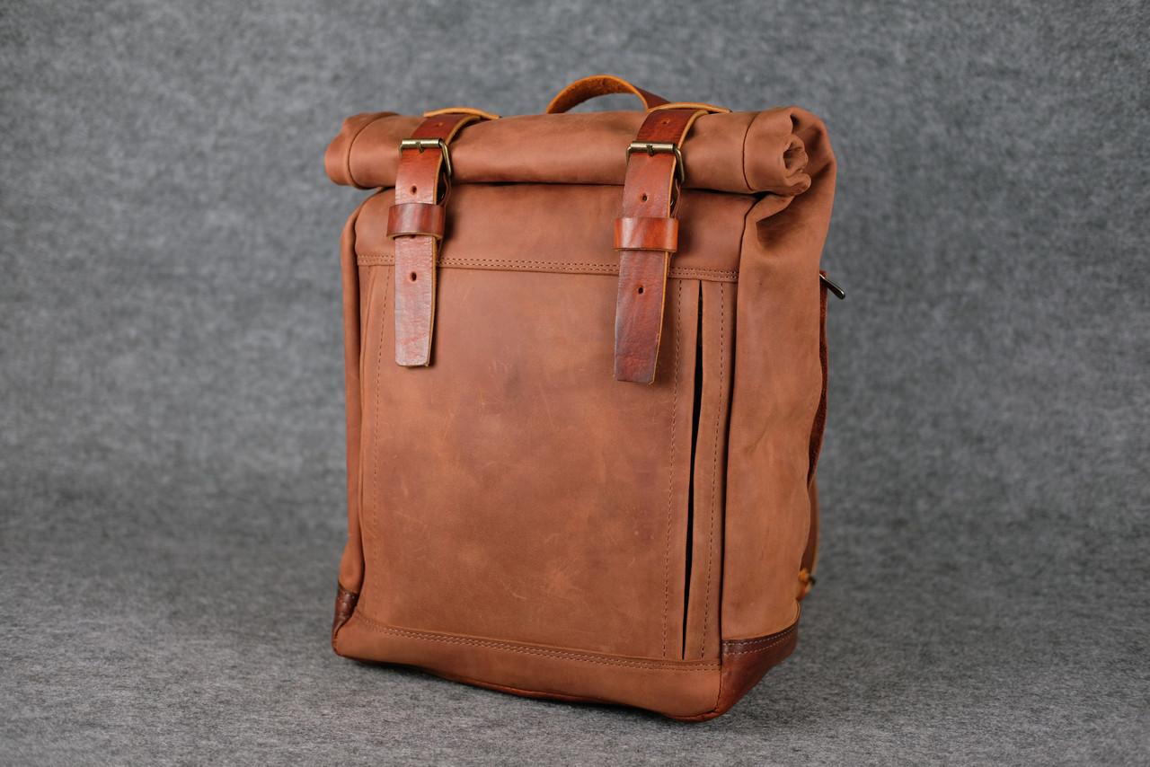 Мужской рюкзак HANKLE H7 |13216| Коньяк + Коньяк