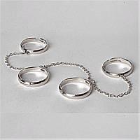 Кольца на цепочке 4 безразмерное