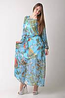 Длинное голубое платье D&G