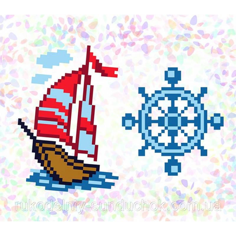 """Водорастворимый флизелин с рисунком """"Confetti"""" (K108 Морское приключение)"""