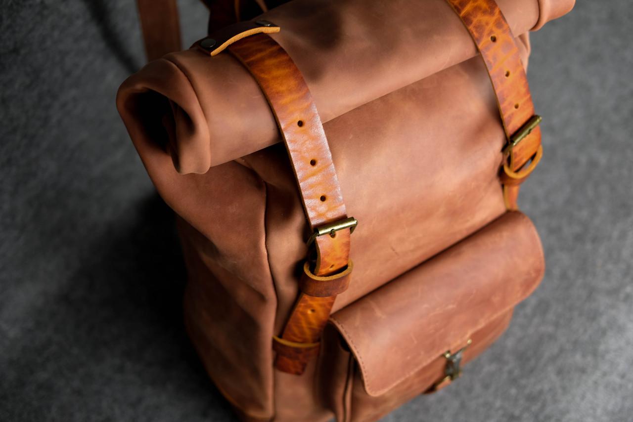 Мужской рюкзак HANKLE H42 |13218| Коньяк+Янтарь
