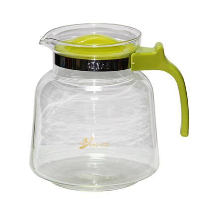Стеклянный заварочный чайник с пластиковой ручкой Гигант, 2800 мл, фото 2