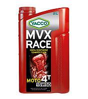 Моторное масло для мотоциклов Yacco MVX RACE 4T 15W50 (2L)