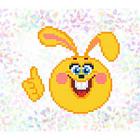 """Водорастворимый флизелин с рисунком """"Confetti"""" (K112 Веселый заяц)"""