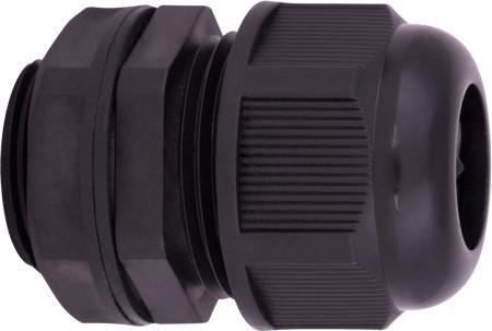 Кабельный ввод e.mg.stand.25, IP68, черный