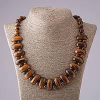 Ожерелье Клеопатра Тигровый глаз звено 12*25 мм и шарик 10mm L50см