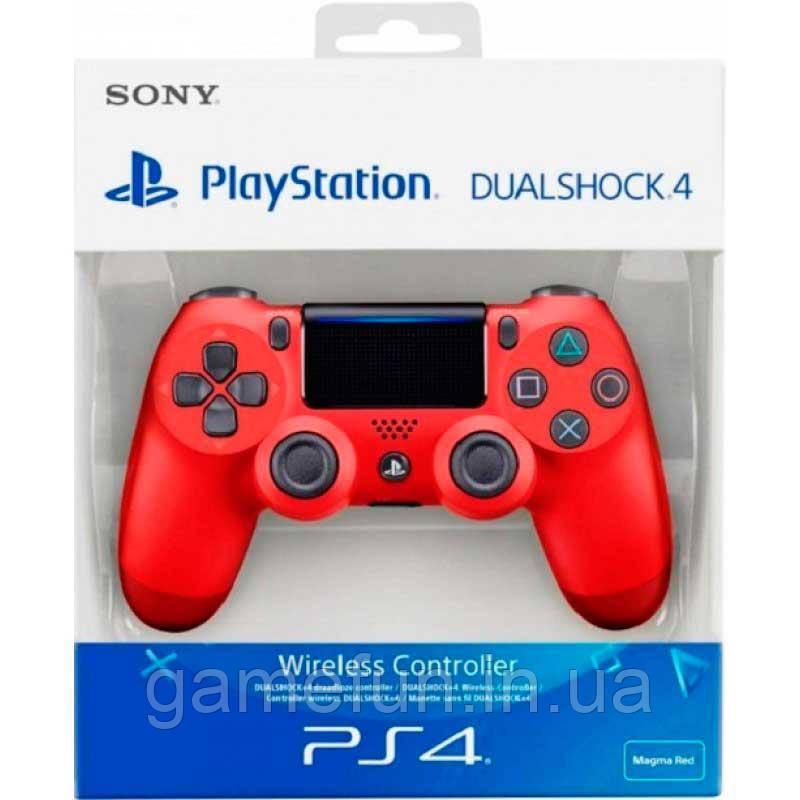 Джойстик PS4 V2 Dualshock 4 Controller Червоний (Оригінал)