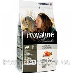 Пронатюр Холистик (Pronature Holistic Turkey&Cranberries) индейка/клюква для взрослых собак всех пород 13.6 кг