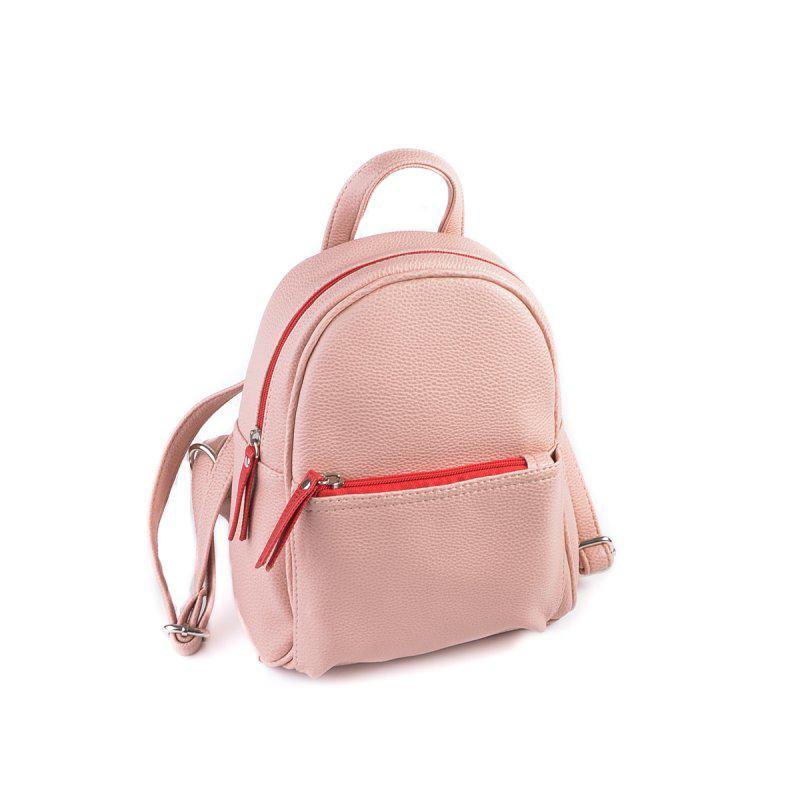 Маленький Женский Рюкзак М124-65 Red Розовый Цвет Пудра — в Категории
