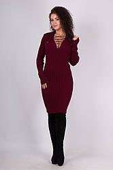 Модное платье со шнуровкой на груди - Рианна