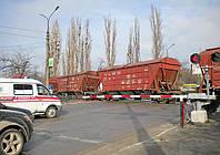 Сигнальная световозвращающая пленка для железнодорожных переездов со шлагбаумом