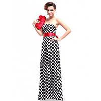 РАСПРОДАЖА! Платье в горошек с красным бантом