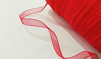 Лента  органза  7 мм  красная