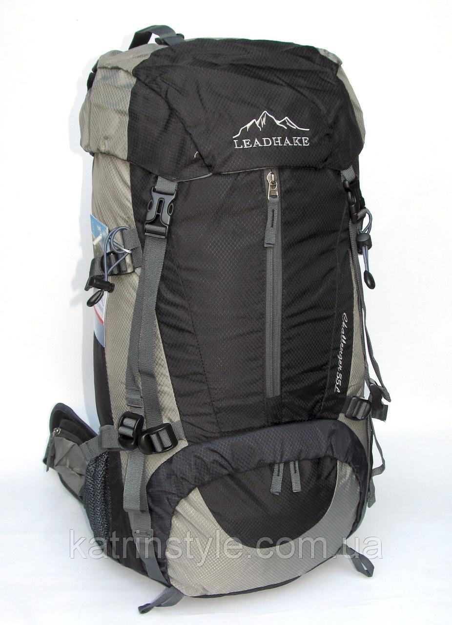 Рюкзак туристический  Leadhake 5212  черный (68х32х24 см.  55 литров)