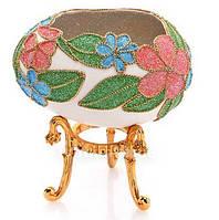 Сувенир ручной работы из гусиного яйца Лепесточек ( памятный подарок )