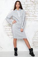 Костюм трикотажный юбочный Анжелина точка флис, теплый костюм с юбкой